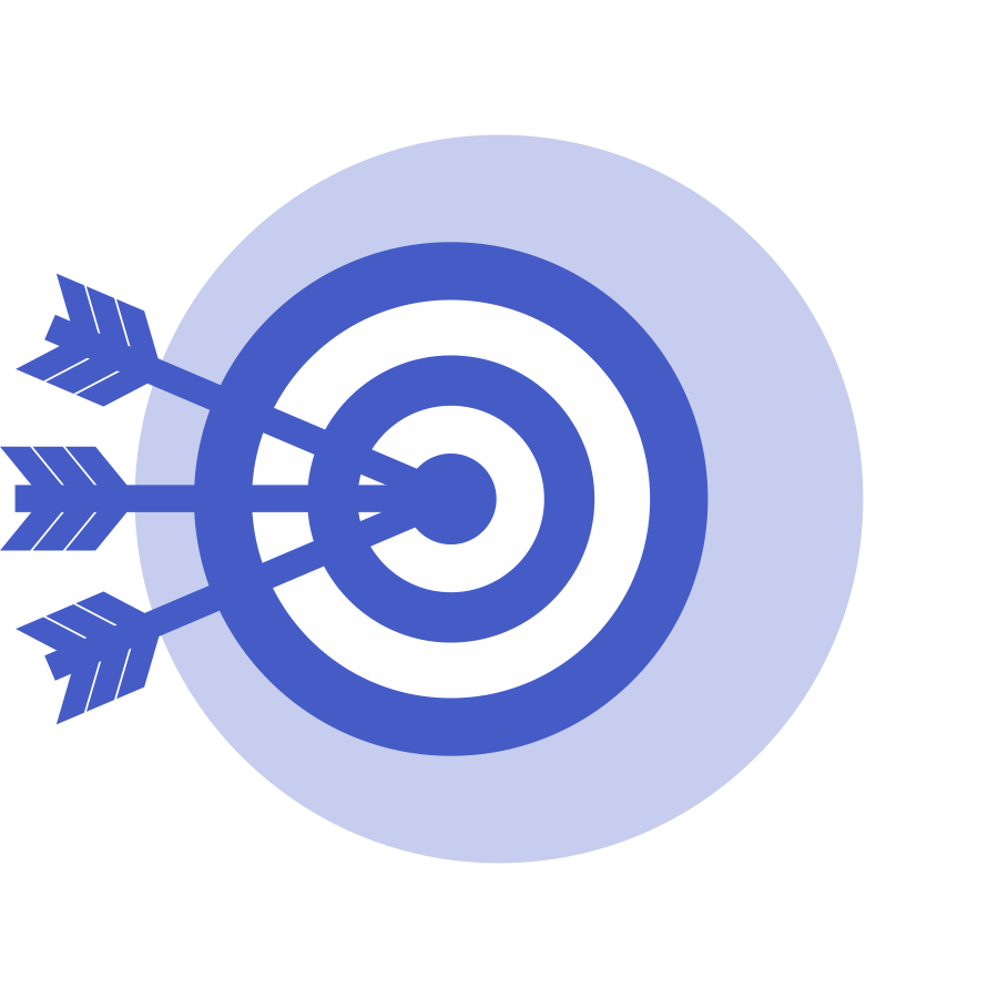 Mission and vision icon